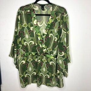 🦋3/$15 Green Lane Bryant Blouse size 26/28
